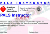 PALS Instructor Card